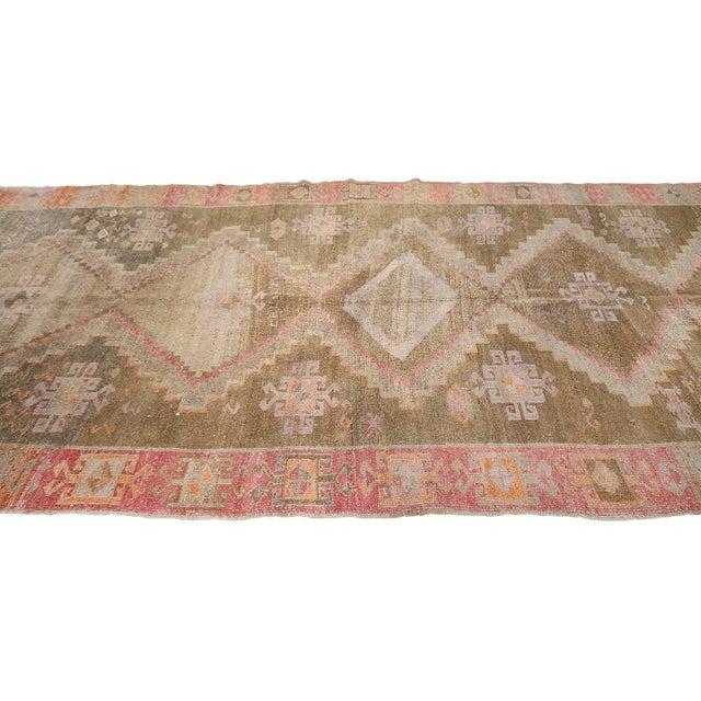 Traditional Vintage Washed Out Turkish Kars Rug For Sale - Image 3 of 6