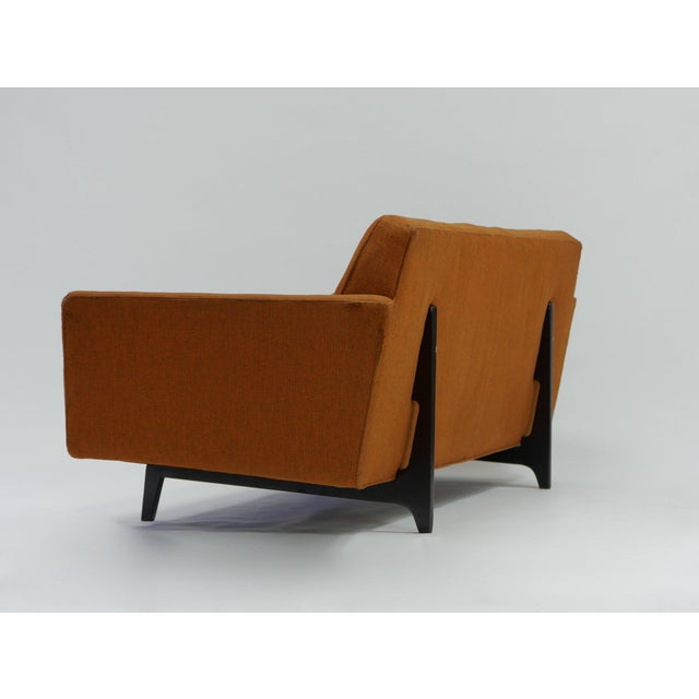 1950s Pair of Bracket Back Sofas by Edward Wormley for Dunbar For Sale - Image 5 of 8