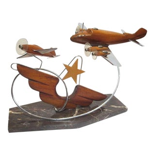 French Art Deco Airplane Sculpture For Sale