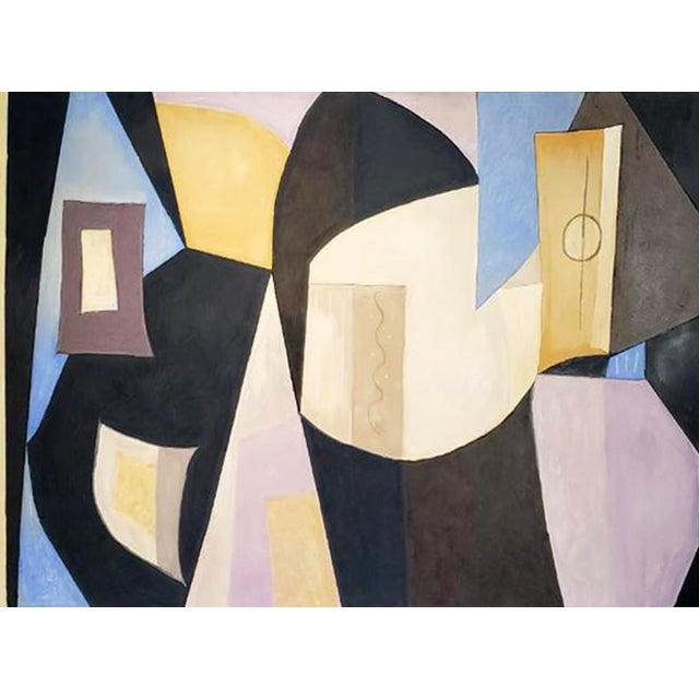 """""""Vase Flowers & Mandolin"""" by Artist Robert Diesso For Sale"""