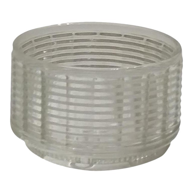 Vintage Clear Glass Planter - Image 1 of 4