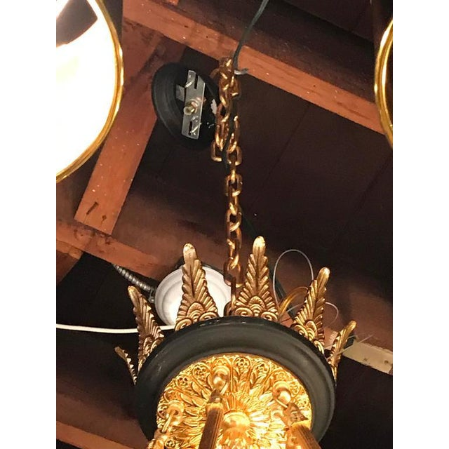 Empire Style Bronze & Ebony Highlights 12-Arm Chandelier For Sale In New York - Image 6 of 10