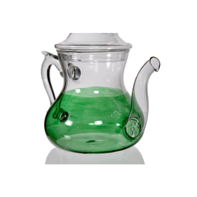 Moroccan Green Glass Teapot - Image 3 of 5