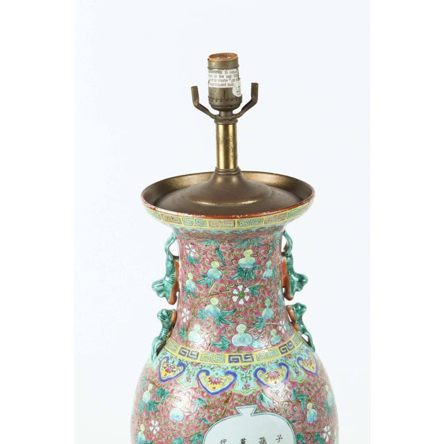 Exceptional Chinese Ceramic Table Lamp Decaso