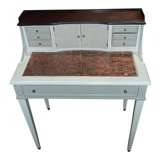 Country Penny-Topped Writing Desk For Sale