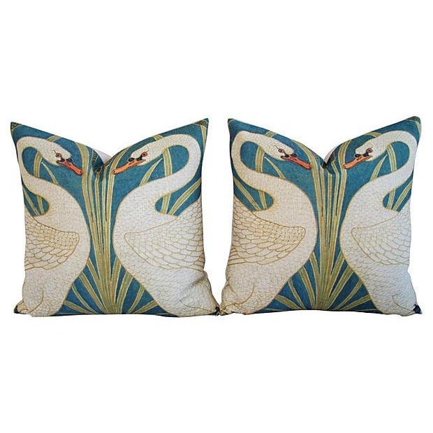 Swans Linen & Down/Feather Pillows - Pair - Image 8 of 8