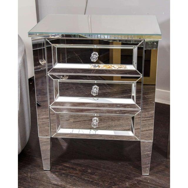 Beautiful Custom Mirrored Nightstand For Sale In New York - Image 6 of 6