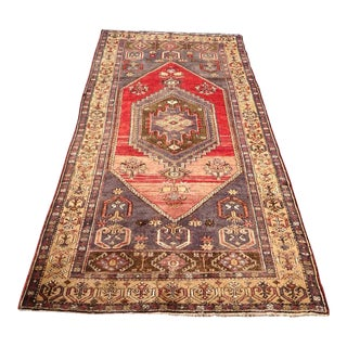 Vintage Anatolian Rug - 4′3″ × 8′11″ For Sale
