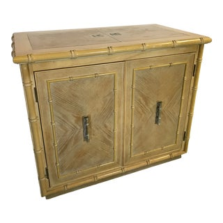 Vintage Faux Bamboo Server Cabinet For Sale