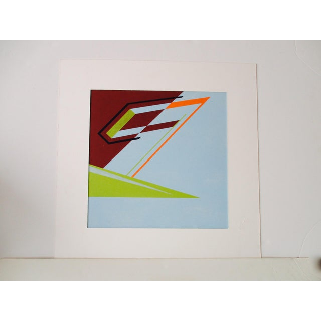 Abstract Geometric Acrylic Painting Hard Edge Style - Image 2 of 8