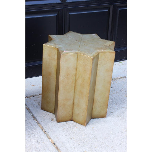 Vintage Henredon Hollywood Regency Star Gold Side Tables - a Pair For Sale In Columbus - Image 6 of 10