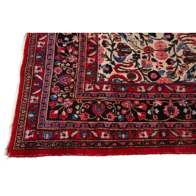 """Vintage Persian Rug, 8'10"""" X 12'09"""" For Sale - Image 4 of 9"""