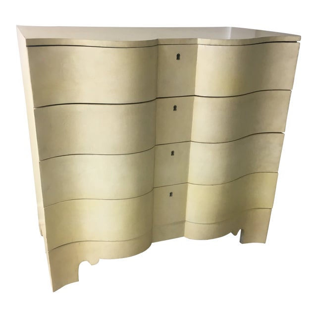 Vintage Goatskin Chest of Drawers a Pair For Sale
