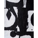Image of Original Abstract Contemporary Black and White Painting For Sale