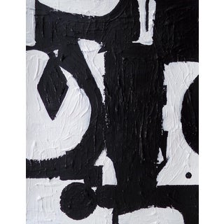 Original Abstract Contemporary Black and White Painting For Sale
