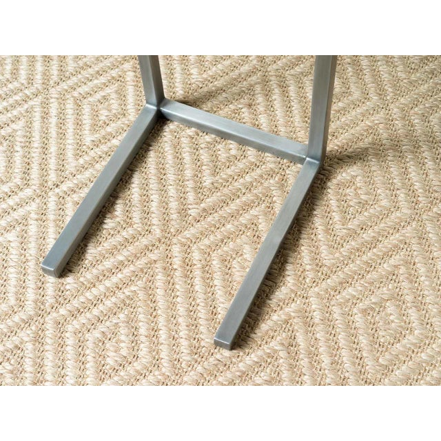 Mid-Century Modern Style Rectangle Steel Patio Side Table For Sale - Image 4 of 5