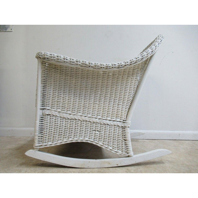 Antique Wicker Outdoor Patio Rocking Chair - Image 7 of 7
