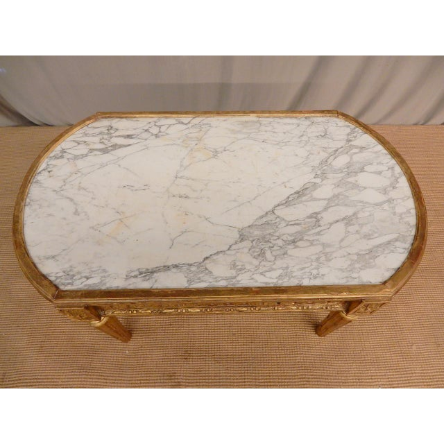 Large Louis XV Marble Top Mantel For Sale In New Orleans - Image 6 of 8