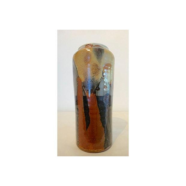 Modernist Abstract Studio Pottery Vase For Sale - Image 5 of 11