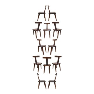 Olavi Hänninen for Mikko Nupponen Sculptural Dining Chairs- Set of 12 For Sale