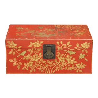 Red Lacquer Trunk For Sale