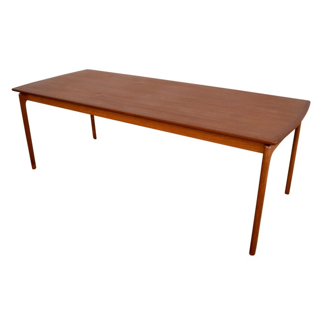 Vintage Danish Modern Teak Coffee Table by Ole Wanscher for Poul Jeppesen For Sale