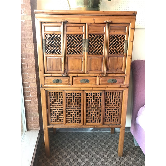 Vintage Bamboo Cabinet - Image 2 of 6