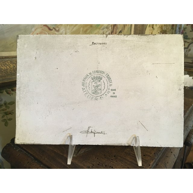 Longwy French Hand Painted & Signed Tile For Sale - Image 10 of 13