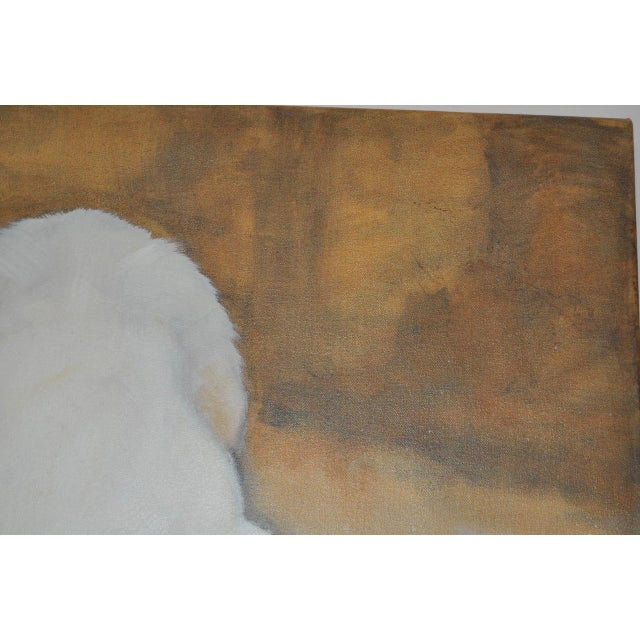 "Ute Simon ""Polar Bear"" Oil on Canvas Painting, Circa 2003 - Image 8 of 9"