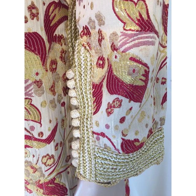 1970s Metallic Brocade Moroccan Caftan, Kaftan Maxi Dress For Sale - Image 4 of 10