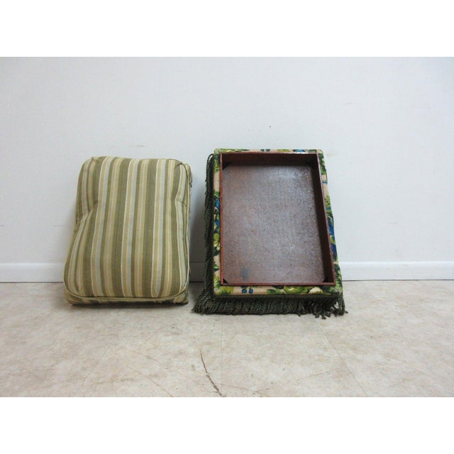 Antique Storage Footstool Ottoman For Sale - Image 11 of 11