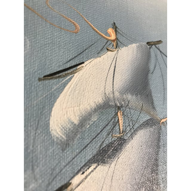 Large Sailing Ship Painting For Sale - Image 11 of 13