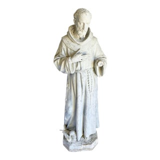 1950s St. Francis Garden Statue For Sale