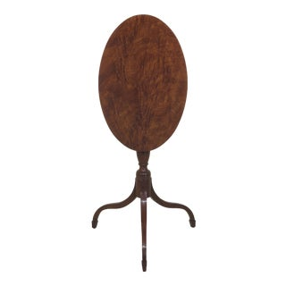 Henkel Harris Model 5403 Walnut Tilt Top Table For Sale