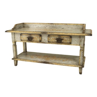 French Provincial Painted Work Table For Sale