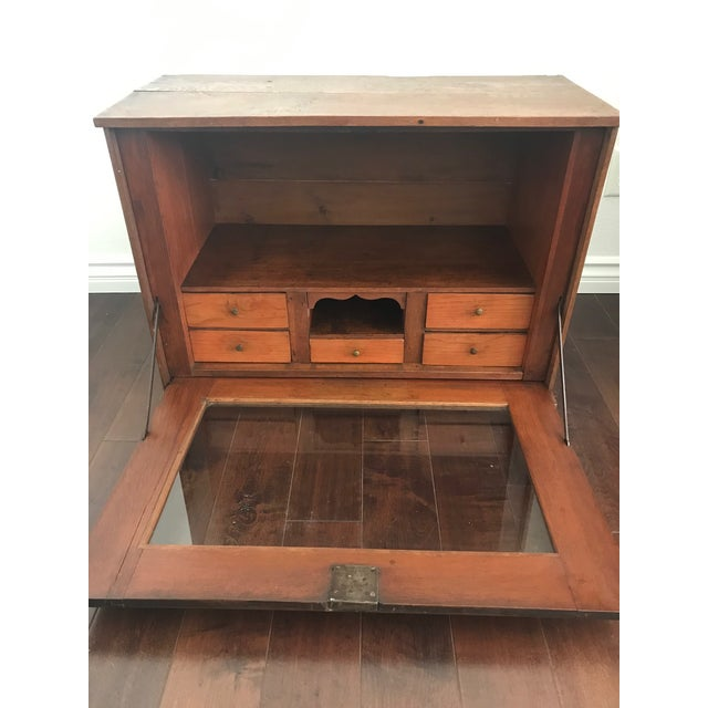 Late 19th Century 19th Century Traditional Cigar Humidor/Secretary Cabinet For Sale - Image 5 of 8