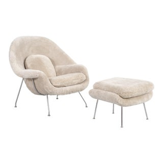 Eero Saarinen for Knoll Womb Chair + Ottoman