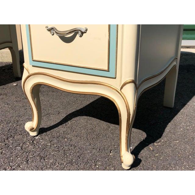Ivory Drexel French Provincial Desk Vanity For Sale - Image 8 of 10