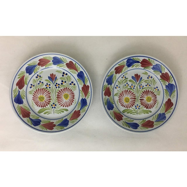 Ceramic Late 20th Century Quimper Plates - A Pair For Sale - Image 7 of 8