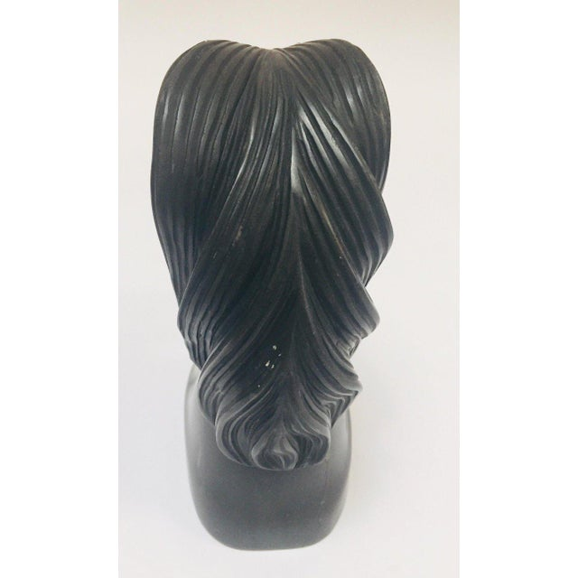 Black Marble horse head sculpture, great to use on a desk as a paper weight or decorative object around the house or...