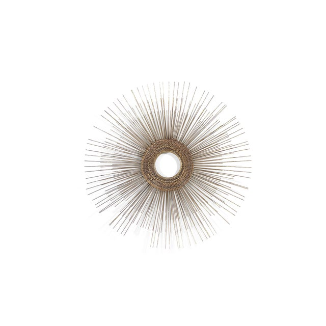 Boho Chic 1950s Woven Sunburst Wall Sculpture For Sale - Image 3 of 9