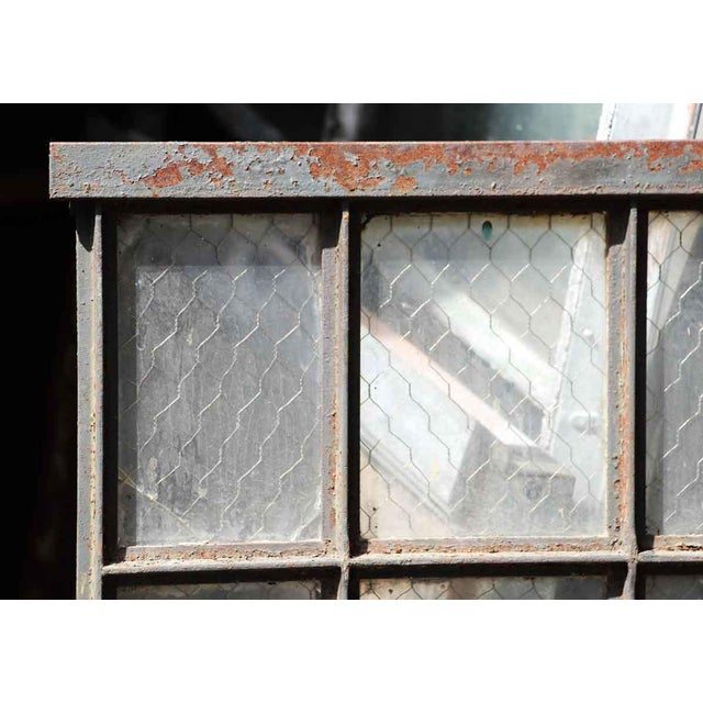 Very cool steel frame industrial windows with chicken wire glass. Some are missing glass. Priced as is per window. Pane...