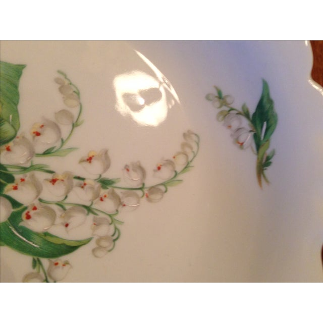 Limoges Lily of the Valley Pedestal Bowl - Image 6 of 8