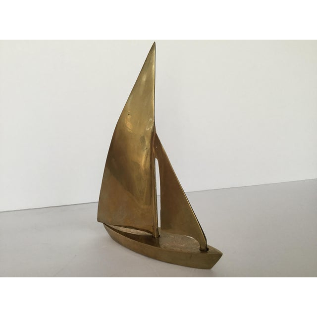 1970s Traditional Brass Sailboat Figurine For Sale In Birmingham - Image 6 of 13