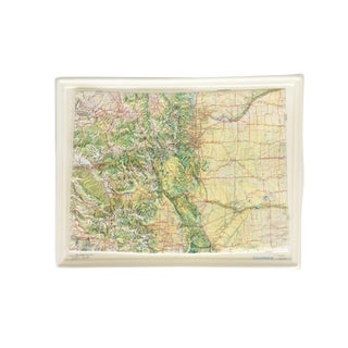 1970s Vintage Raised Topographic Relief Map of Colorado For Sale