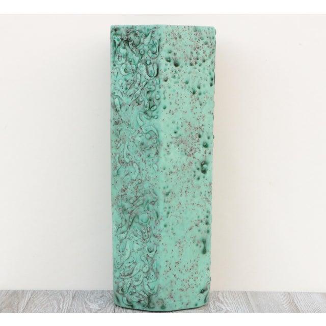 Mid-Century Modern Sea Green Lava Foam Mid Century Vase For Sale - Image 3 of 11