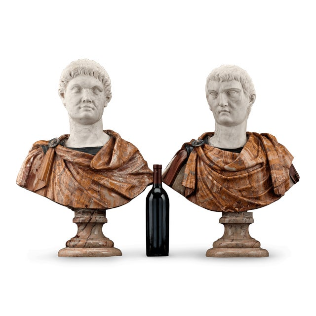 Depicting the Roman rulers of Otho and Tiberius, these remarkable busts date to the 17th century and exhibit the masterful...