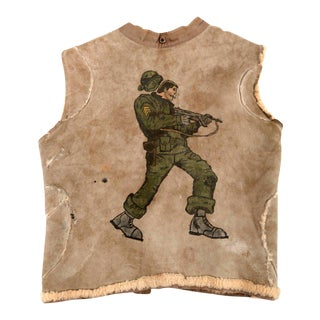 Painted Shearling Vest