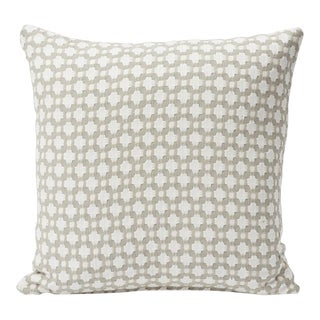 Schumacher Double-Sided Pillow in Betwixt Woven Print