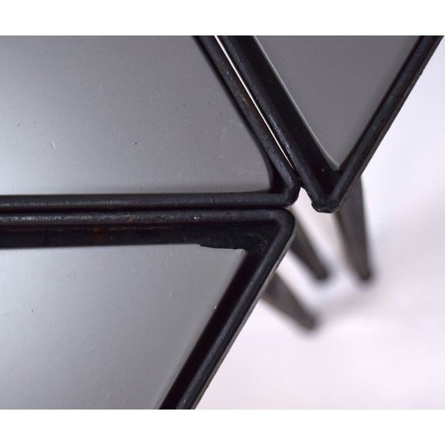 1960s Mid-Century Modern Triangle Stacking Side Tables - Set of 4 For Sale In Chicago - Image 6 of 8